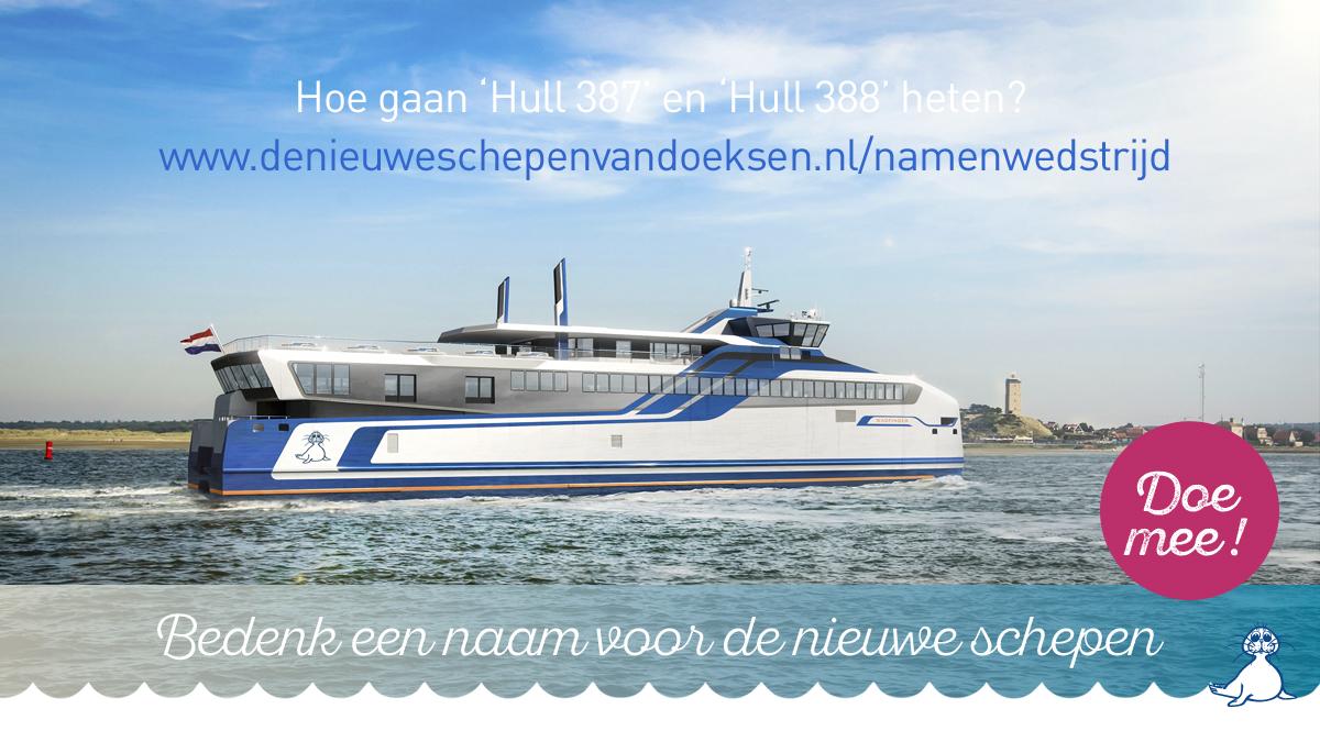 Wedstrijd: Bedenk een naam voor onze nieuwe schepen