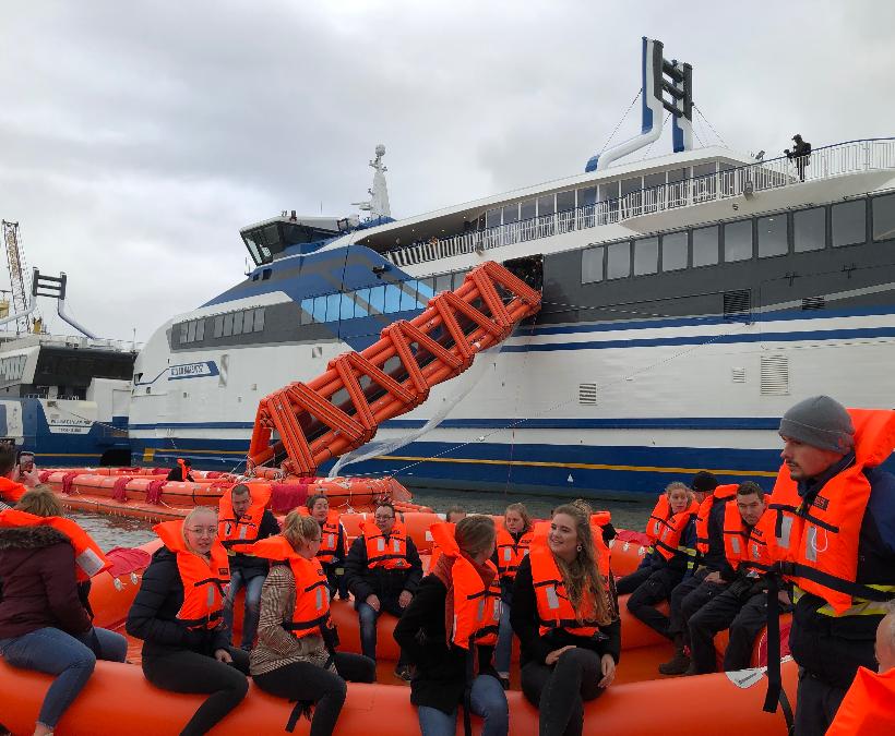 Marine Evacuation System succesvol getest