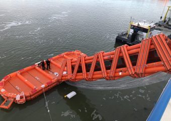 Testen Marine Evacuation System Willem de Vlamingh